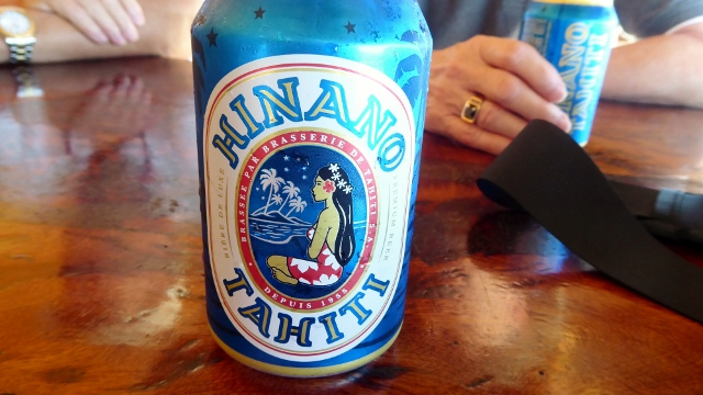 Hinano is the local beer.