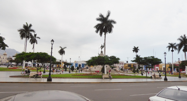 Today, we visited the Plaza de Armas in Trujillo.