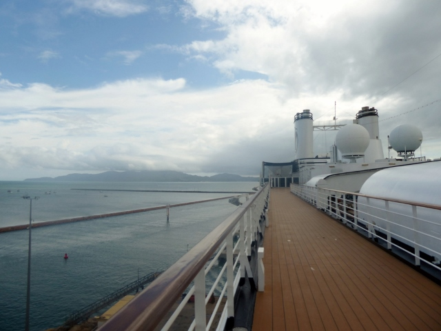The morning was rainy and misty as we docked in Townsville.