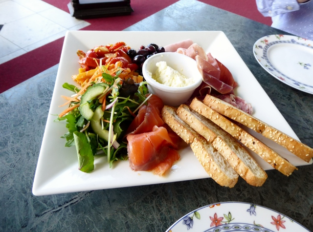 Lunch!  An antipasto plate.