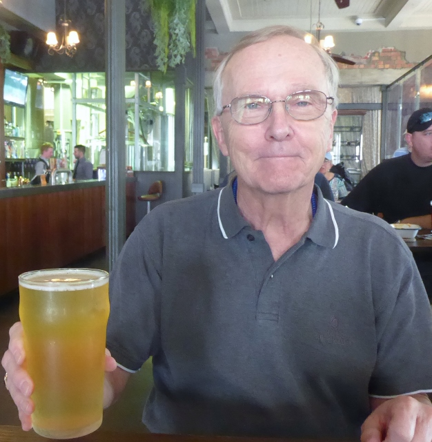 """The afernoon libation is """"Townsville Coast Pale Ale""""."""