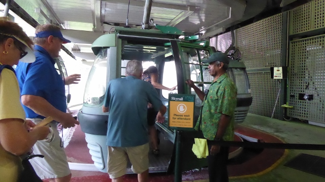 We boarded the Skyrail cable car--six to a car--and began our descent.