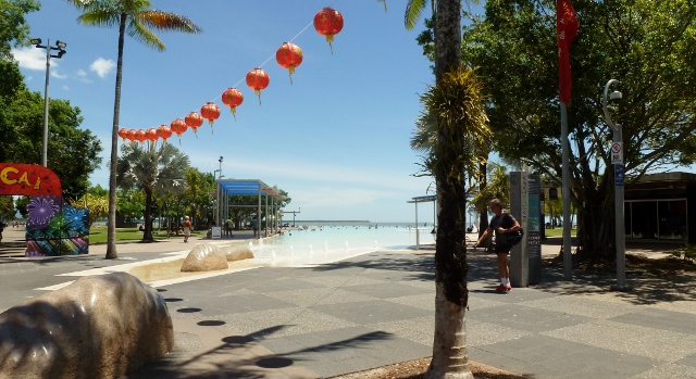 The Lagoon is a man-made inlet and swimming pool in downtown Cairns!