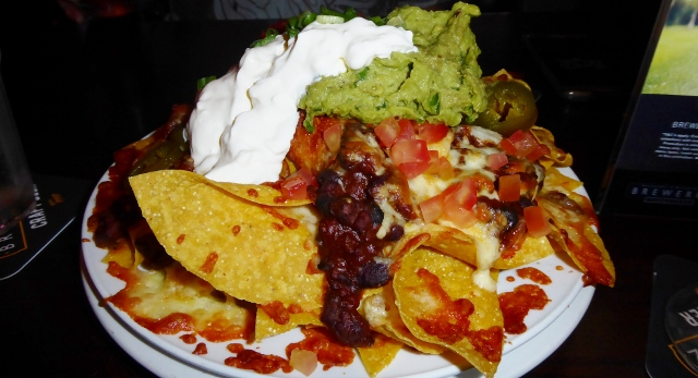 Today, we shared a plate of nachos.  Extra cheese and jalapenos!  Yummy!!!