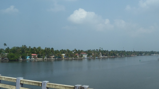 We pass over the Periyar River.