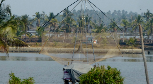 These fishing nets are an iconic symbol of Cochin.