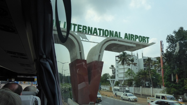 Finally, we arrive at the Cochin International Airport.