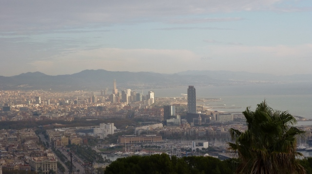 And a view of city from Montjuic (also taken in 2011.)