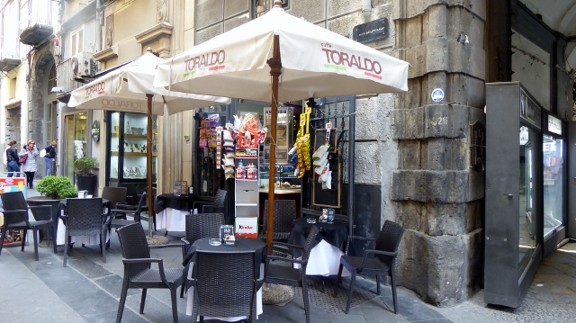 The cafes in Naples pop up  everywhere!  One can never be thirsty!