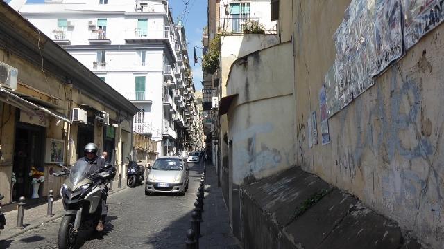 We took the elevator and exited on Via Giovanni Nicotera.