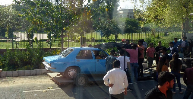 We pass the filming of a Bollywood movie!