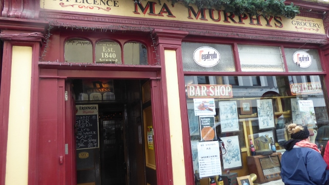 We visited Ma Muphy's Pub and shop.