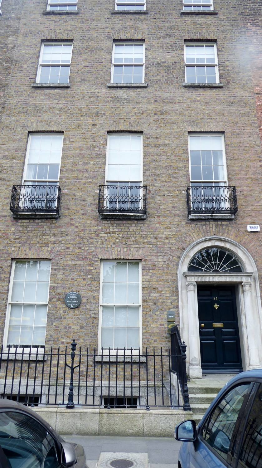 Number  82 was the home of poet & playwrite William Butler Yeats.