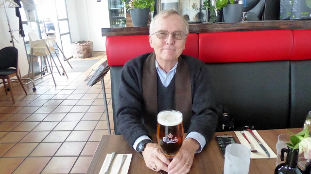 Roger chose a Carlsberg Beer for his afternoon libation.
