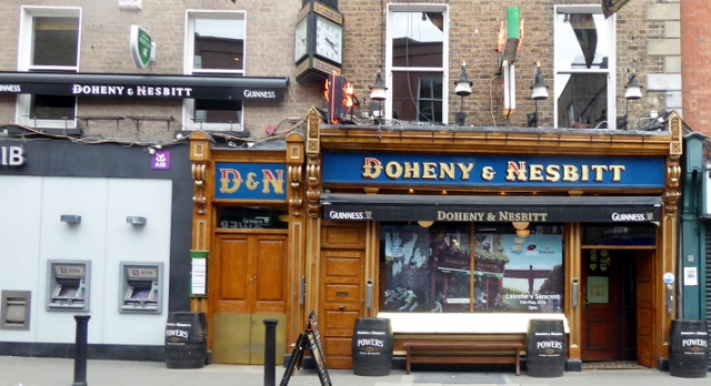 Doheny & Nesbitt at 4-5 Lower Baggot St. was established in 1867.