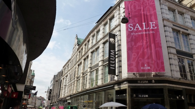 The Illum Department store in Copenhagen is a wonderful place to shop.