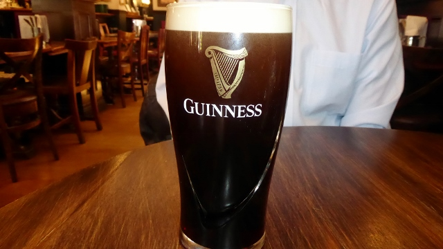 Guinness is the local brew of Ireland and is produced in Dublin.