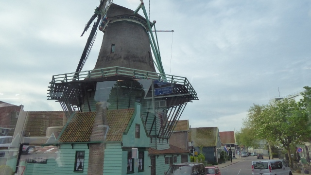The park-village of Zaanse Schans is located on the bank of the River Zaan.