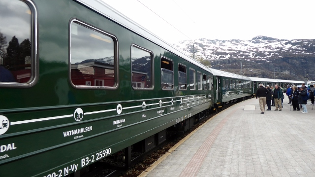 .....and board the train for our return to Flam.