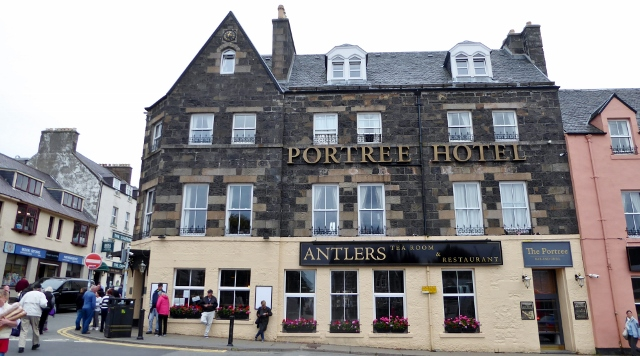 At the top of the harbor walk is Somerland Square and the Portree Hotel.