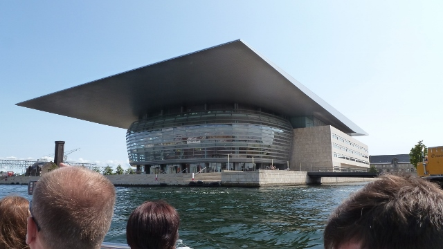 The Copenhagen Opera House, as seen from the canal.
