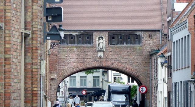 I can't be sure, but I think this is one of the city gates.