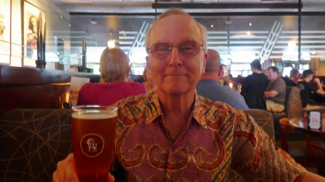 Rog's afternoon libation was a Maibock Lager.