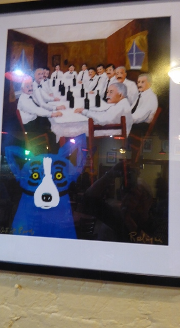 And a wonderful display of artwork by George Rodrigue!!!