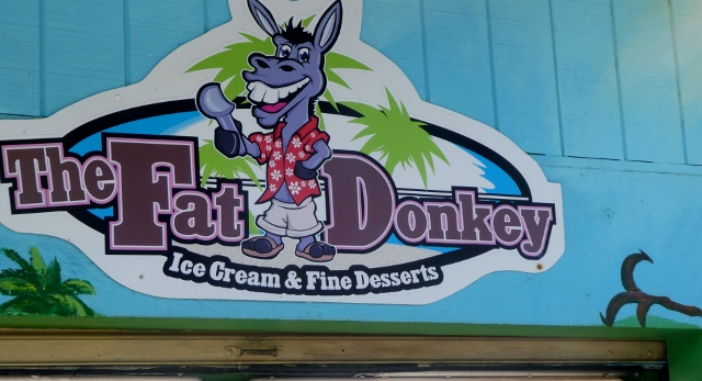 After lunch, we sauntered on over to The Fat Donkey, next door.