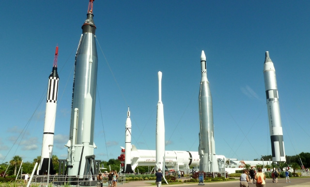 The Rocket Garden at KSC.  Now, I ask you, how cool is this?!?