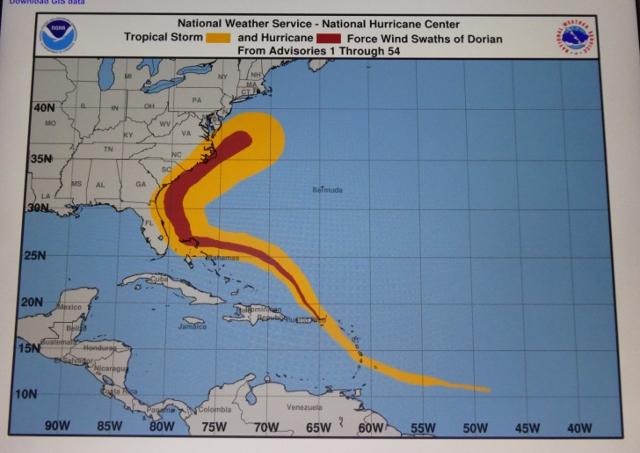NOAA wind chart