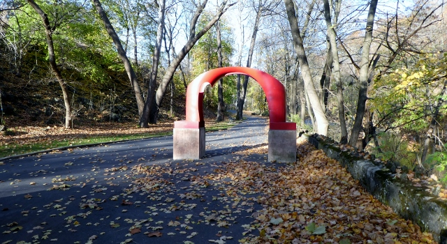 Karl Stirner created the Arch that greets visitor's to KSAT.