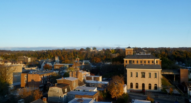 Easton, PA as seen from the Grand Eastonian Hotel looking North