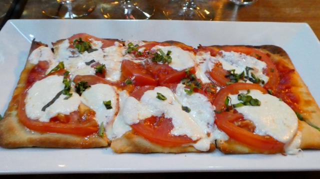 The Caprese Flatbread was a perfest lunch to accompany the tasting.