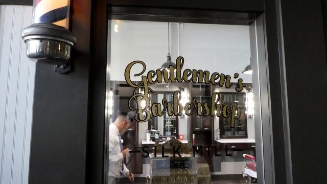 The Gentlemen's Barbershop is a beautiful retro-look shop.