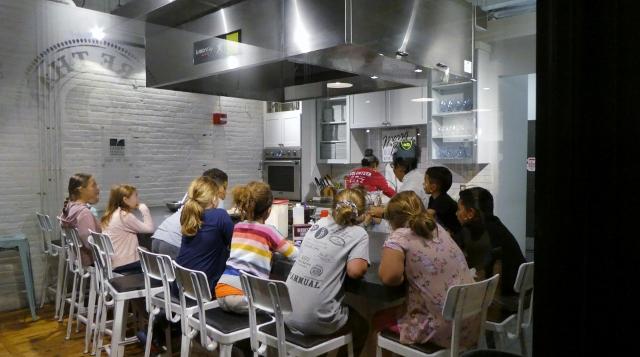 The cooking school.