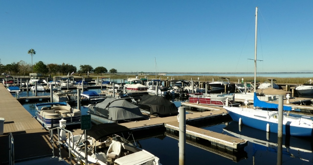 Lakefront Park Marina as seen from Crabby Bill's