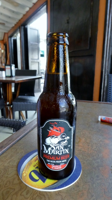 Locally brewed San Martin premium beer.