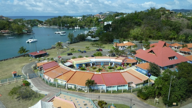 Our final view of Port Seraphine in Castries, St. Lucia.