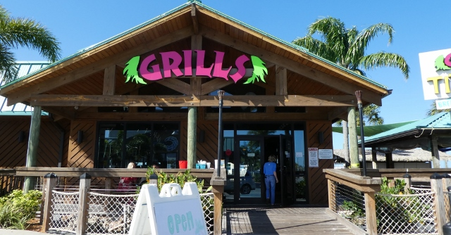 Grills Tiki Bar was open for take-out only.