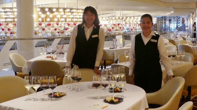 Wine tasting in the Main Dining Room