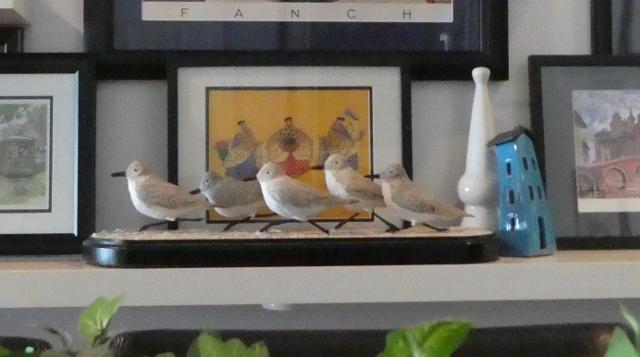 Sanderlings in a Row
