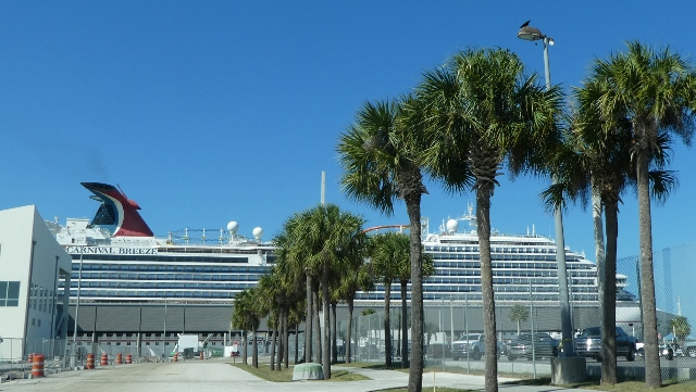 The Carnival Breeze is also home-ported at Port Canaveral.
