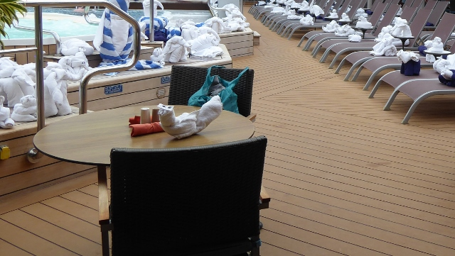 A sunny day on the Lido Deck