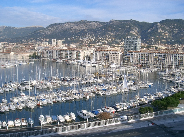 Toulon is a large modern city.