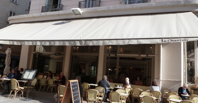 Fine dining at Le Chantilly Cafe in  Toulon