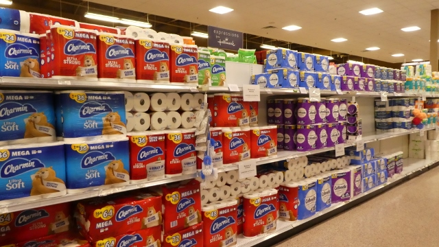 Have you noticed toilet paper and paper towels are back on the shelves!!!