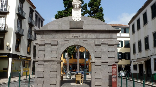The old city gate of Funchal.