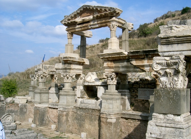 Trajan Fountain (2nd Century AD), originally 2 stories high