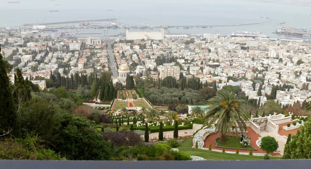 And this is the iconic view from Mt. Carmel.